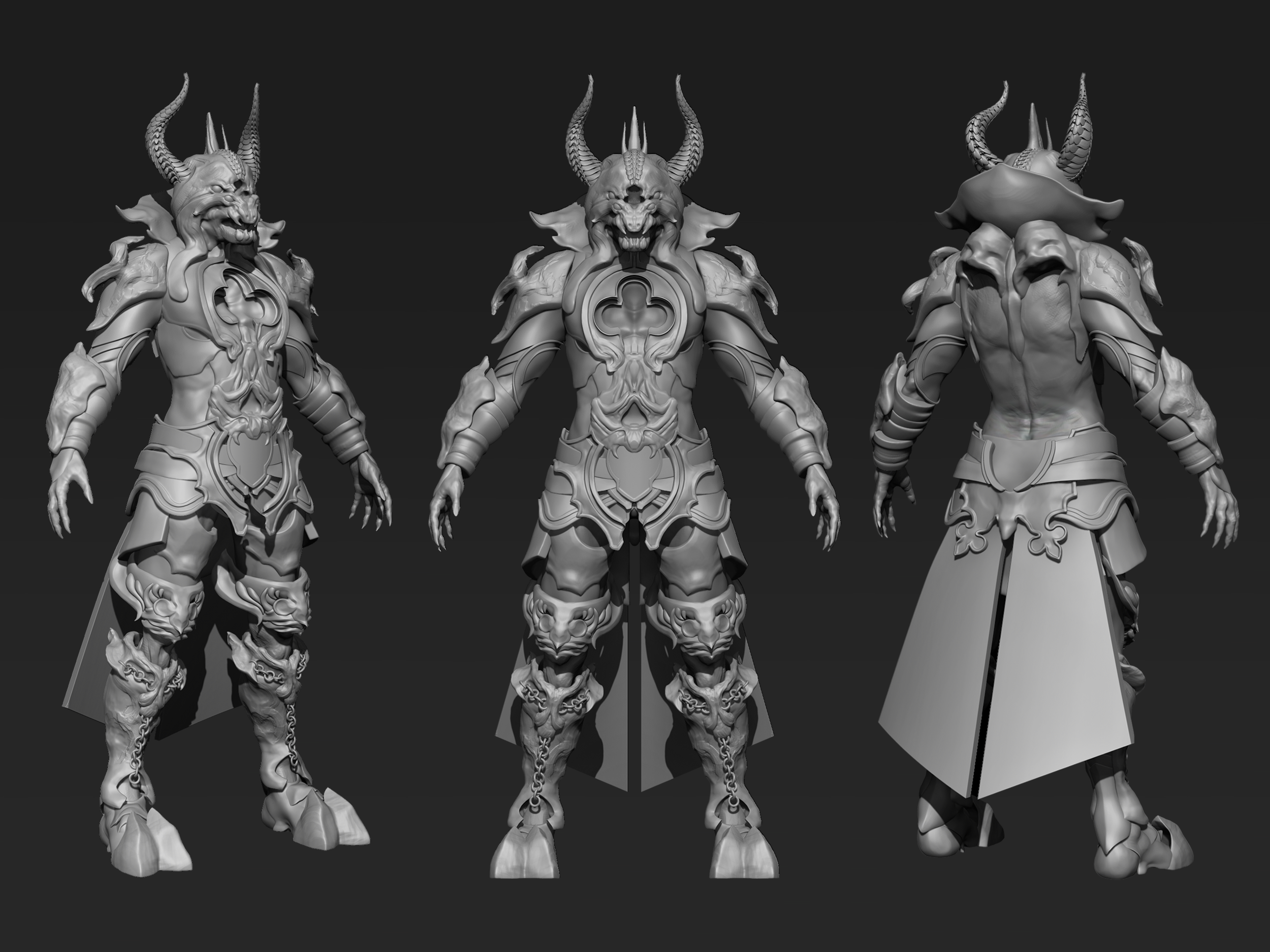 Dante S Satan Wip By G Woch For 3d Character Art Challenge