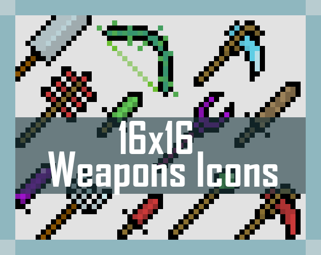 [16x16] RPG Weapons sprites
