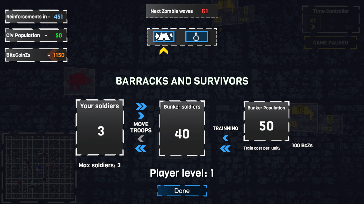 Project BlockchainZ - Manage your soldiers