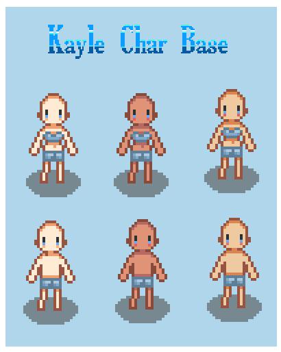 Kayle Rpg Character Base Rpg Maker by Alexandre Kayle