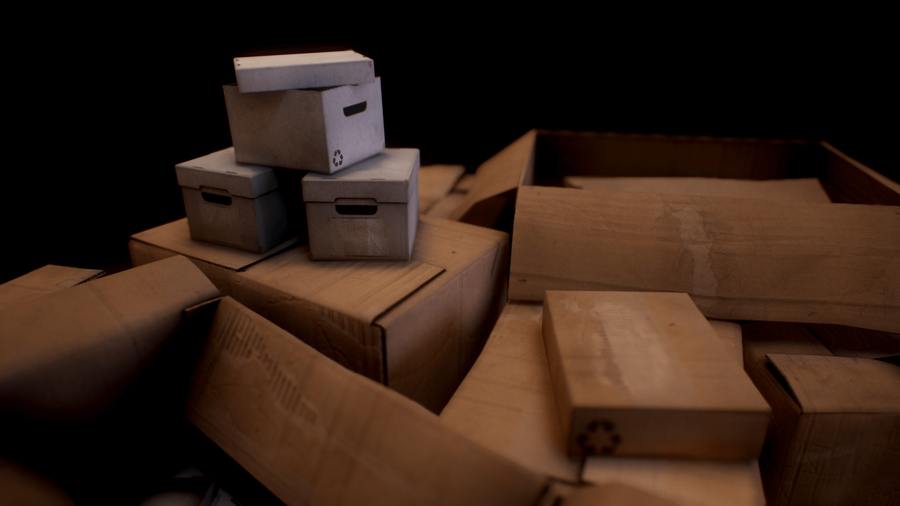 PBR Cardboard Boxes (Standalone, Unity, Unreal Engine)