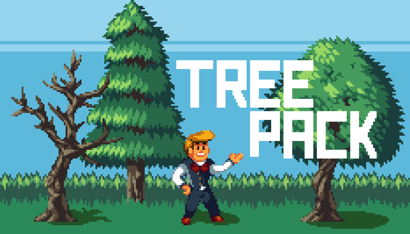 Pixel Tree Set