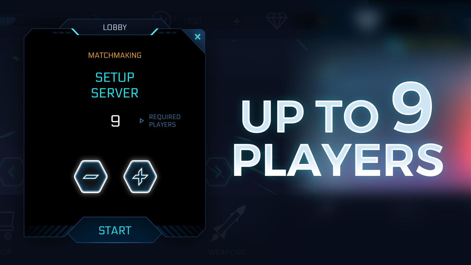 Planet Breaker: Mobile matchmakeing with up to 9 players
