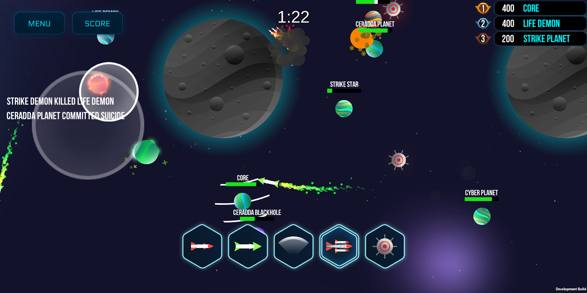 Planet Breaker: Battle other players