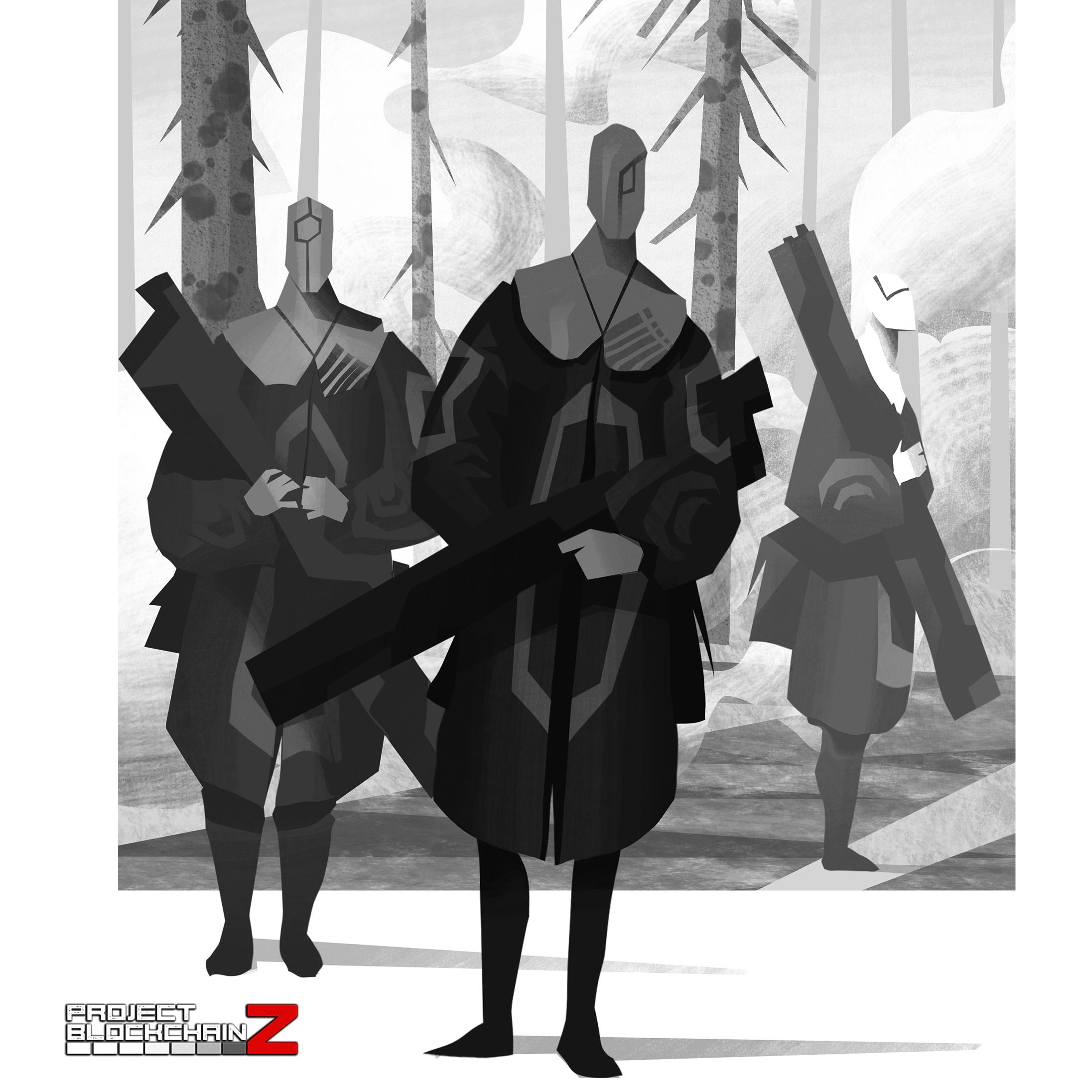 Project BlockchainZ - Faction Concept Art