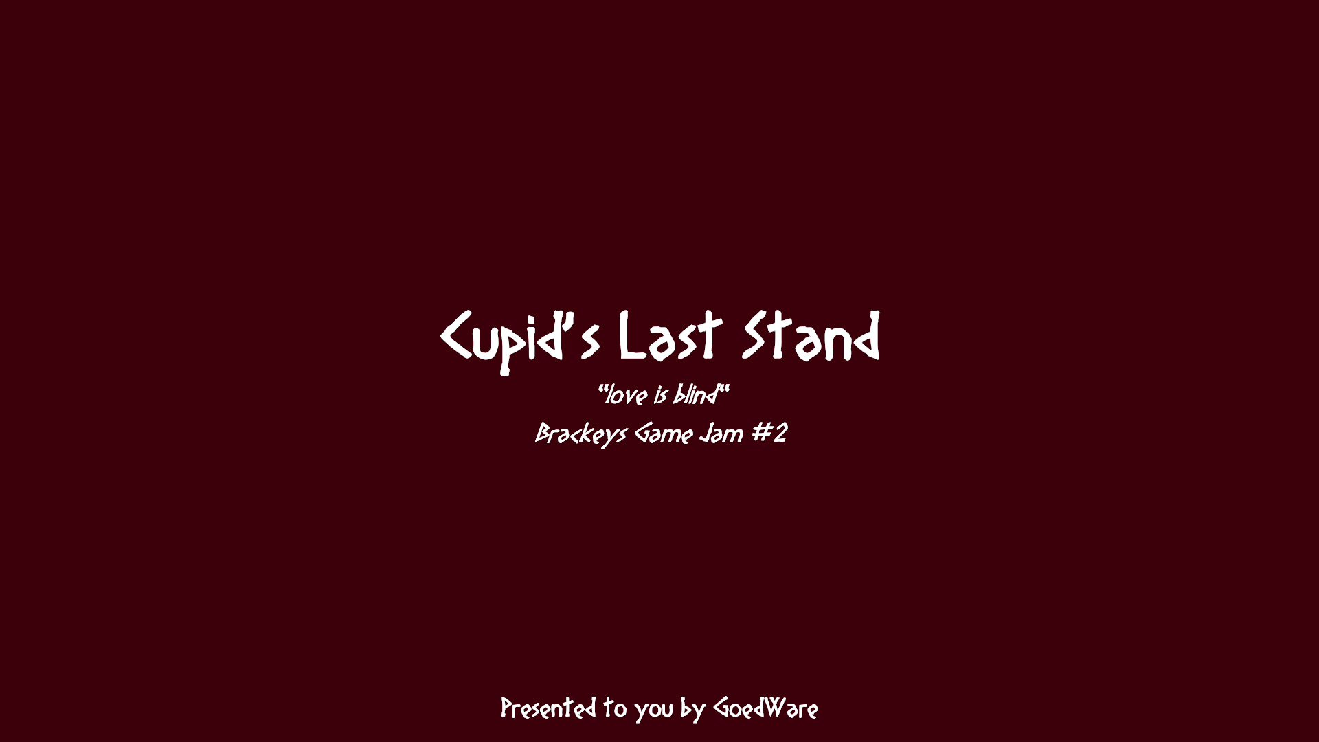 Cupid's Last Stand by GoedWare for Brackeys Game Jam #2 - itch io