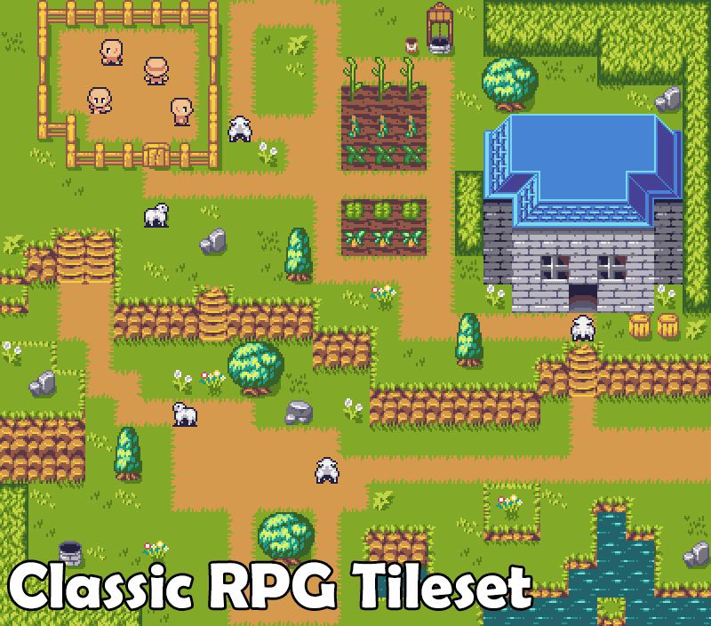 Free Classic RPG Tileset - 2D Art - itch io