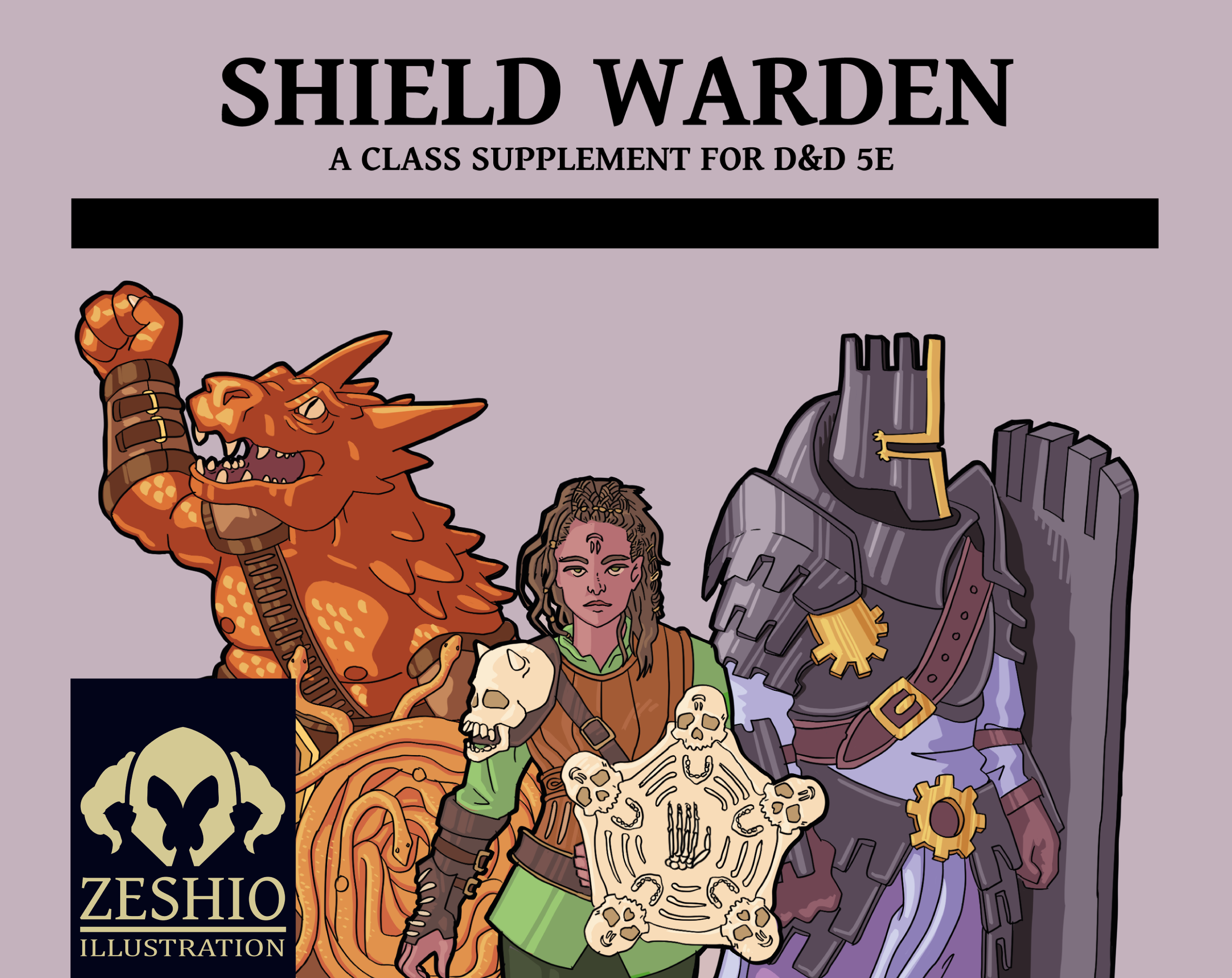 Zeshio's Shield Warden (D&D 5E Homebrew) by Zeshio