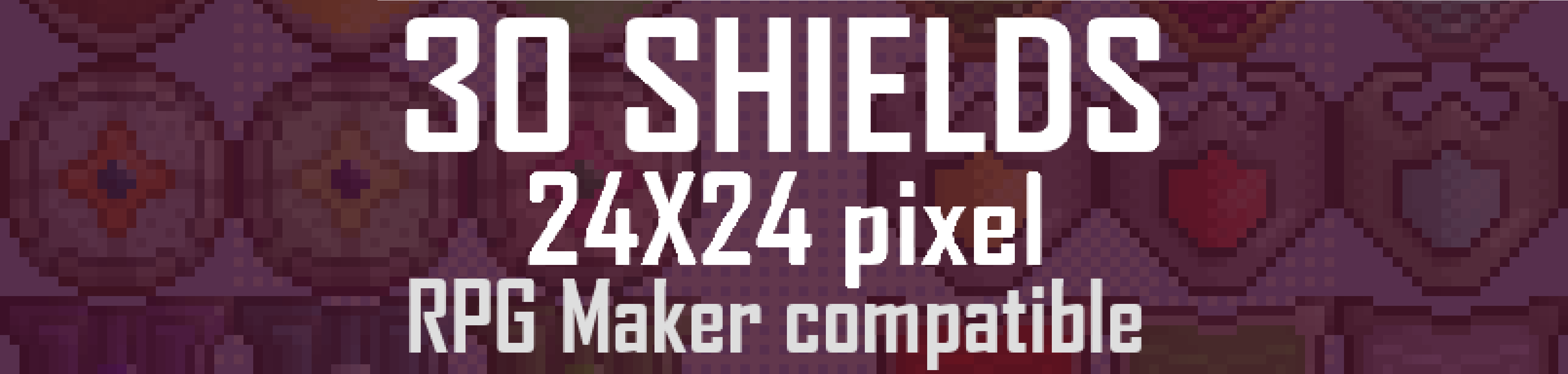 [24x24] RPG Shields Sprites