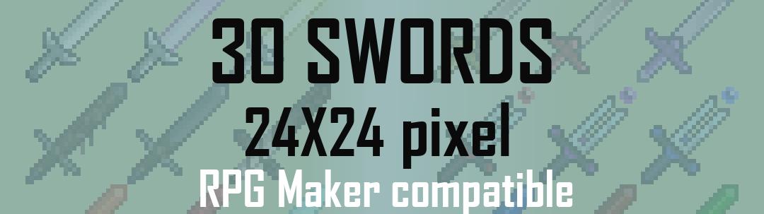 [24x24] RPG swords sprites