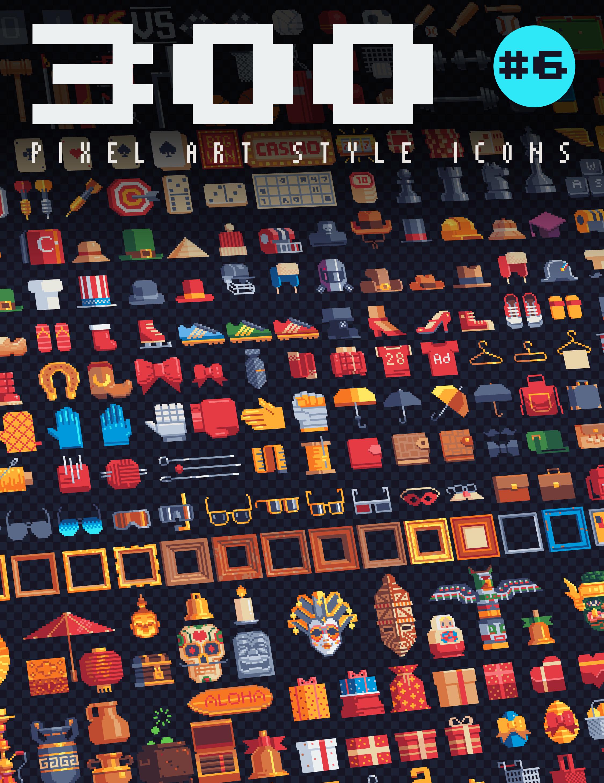 300 - Pixel Art Style Icons #6