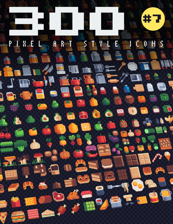 300 - Pixel Art Style Icons #7