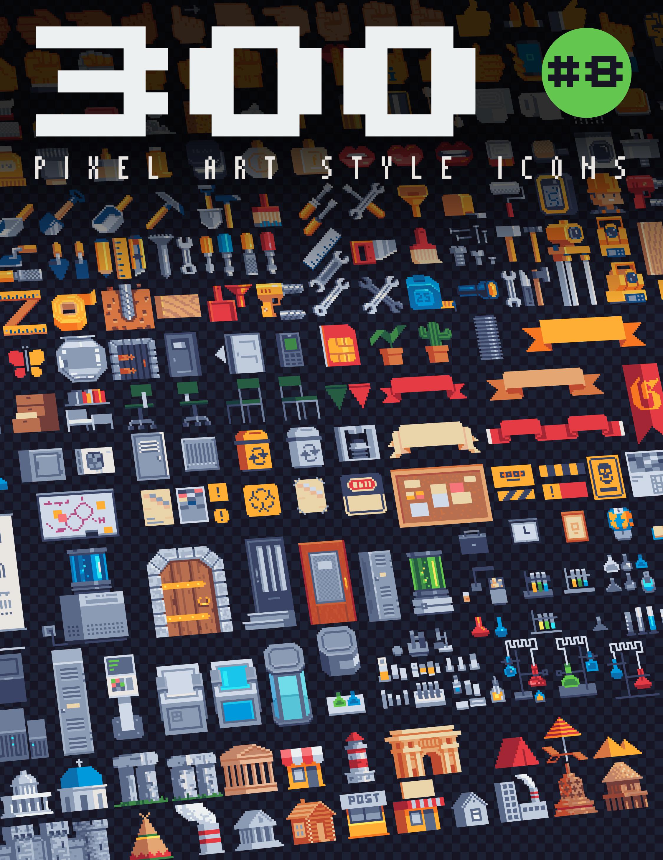 300 - Pixel Art Style Icons #8