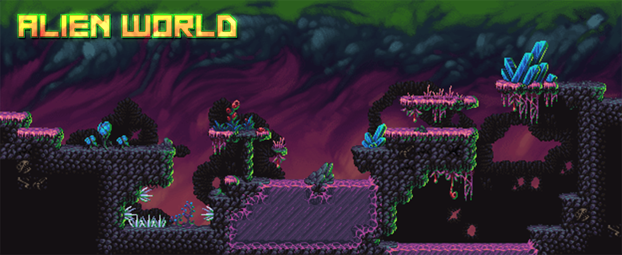 Alien World: Pixelart Tileset