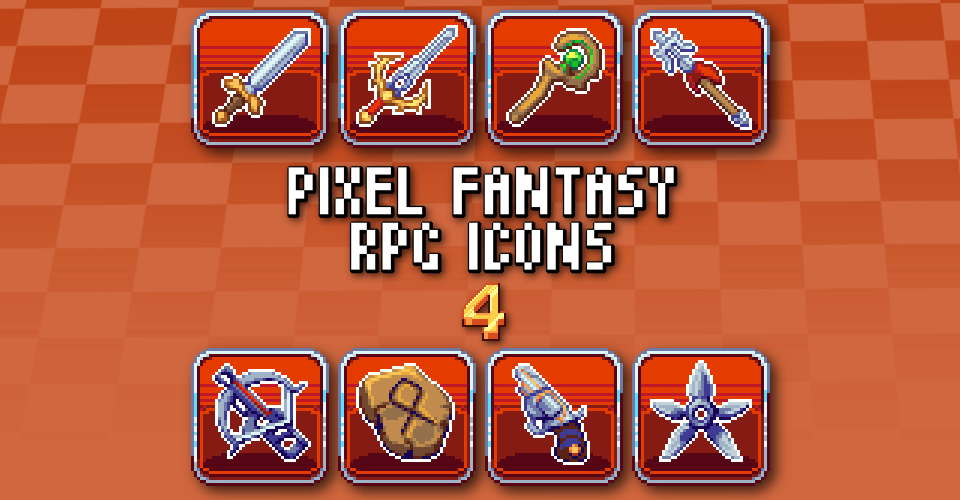 PIXEL FANTASY RPG ICONS - PACK 4