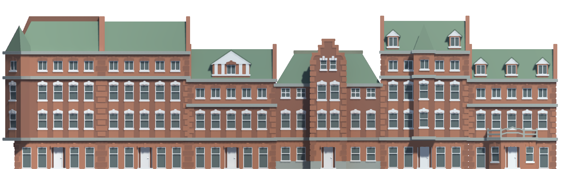Low Poly Brick Houses