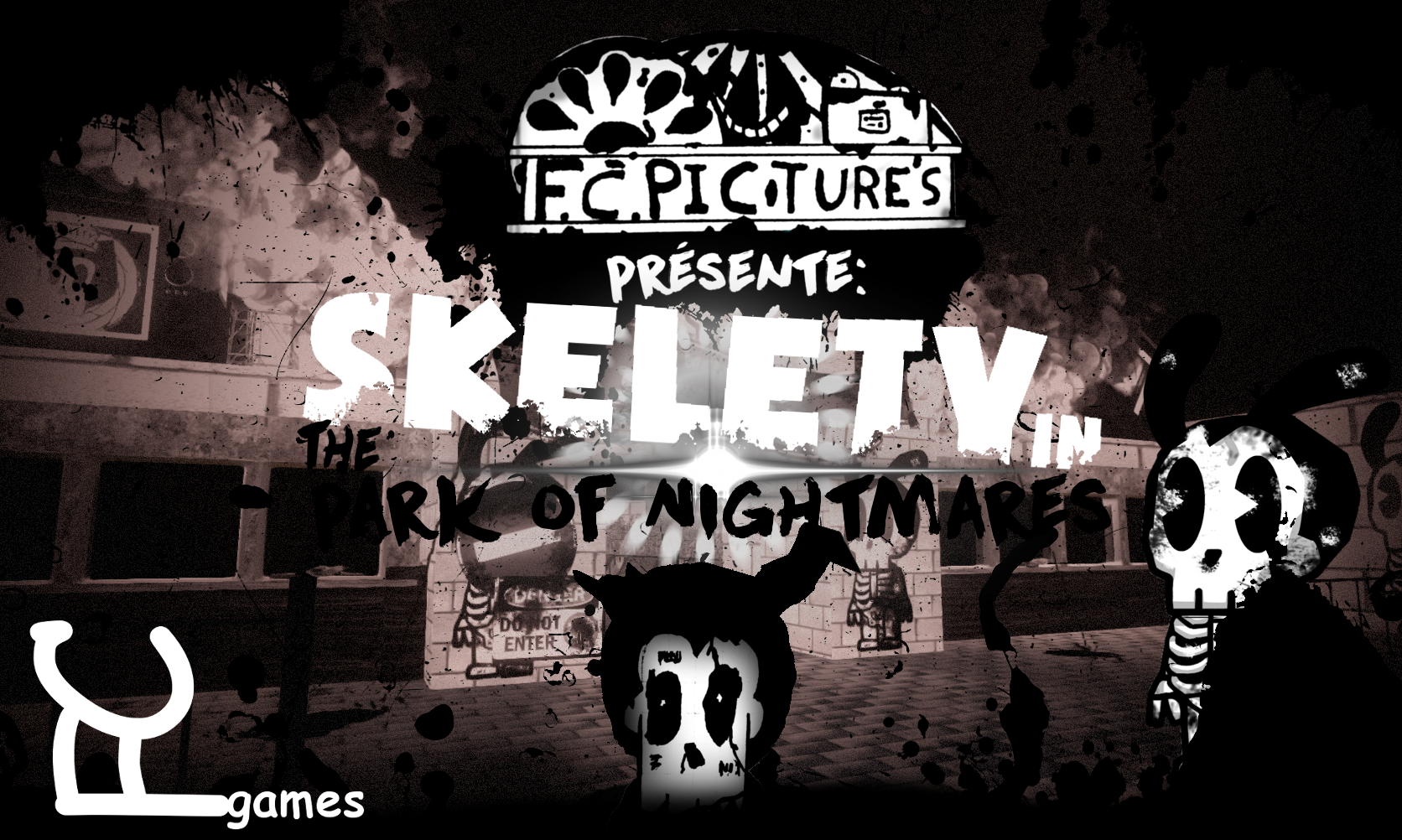 skelety in the park of nightmares