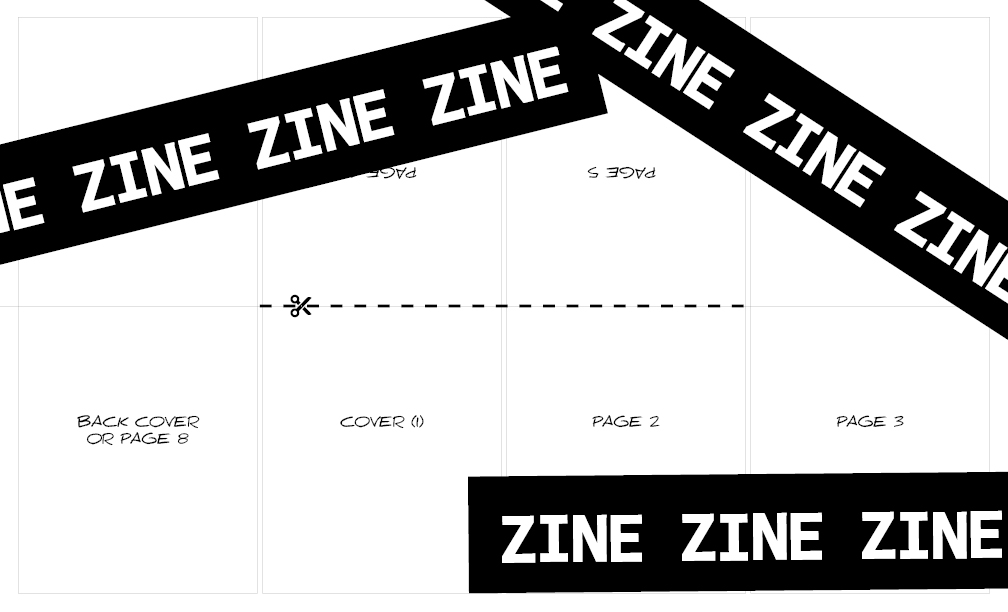 8- or 16-Page Zine Template for Legal-Size Paper