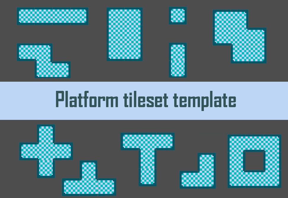 Platform tileset template by korteh