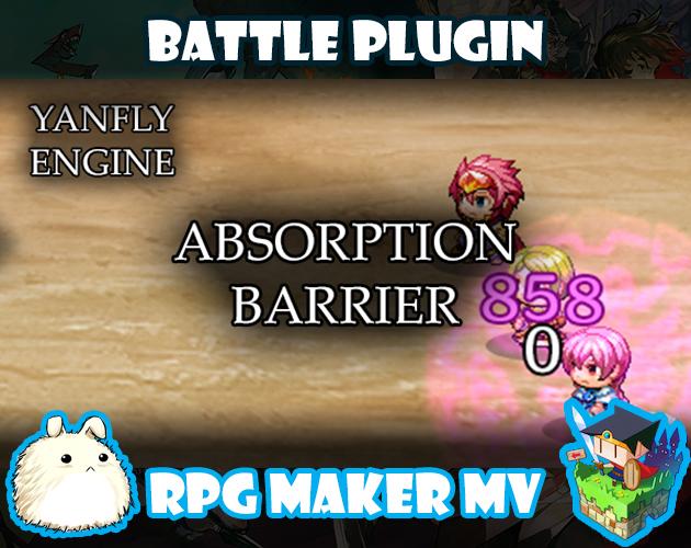Absorption Barrier plugin for RPG Maker MV by Yanfly Engine Plugins
