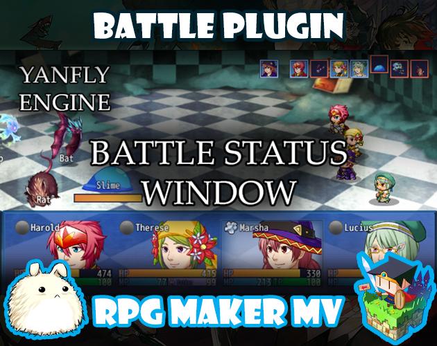 Battle Status Window plugin for RPG Maker MV by Yanfly Engine Plugins