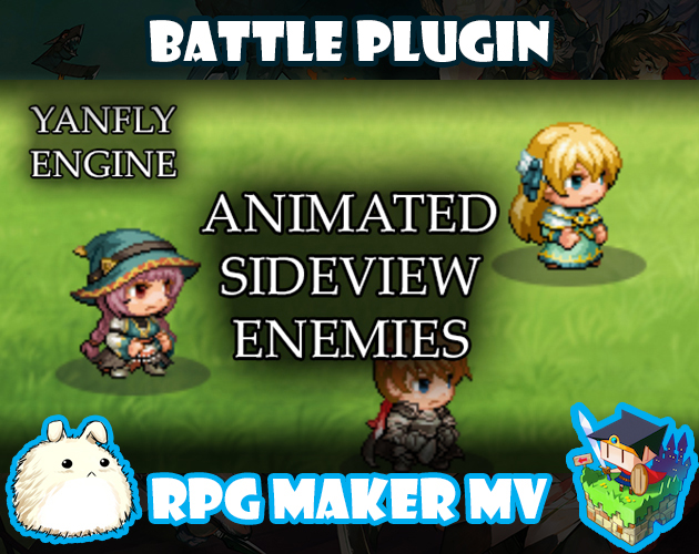 Animated Sideview Enemies plugin for RPG Maker MV by Yanfly