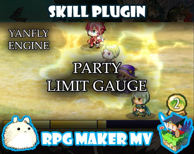 Party Limit Gauge plugin for RPG Maker MV by Yanfly Engine Plugins