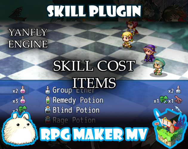 Skill Cost Items plugin for RPG Maker MV by Yanfly Engine