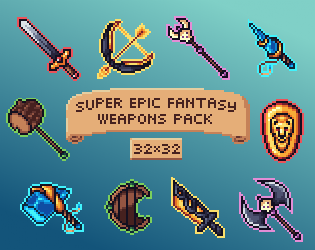 Super Epic Fantasy Weapons Pack FREE