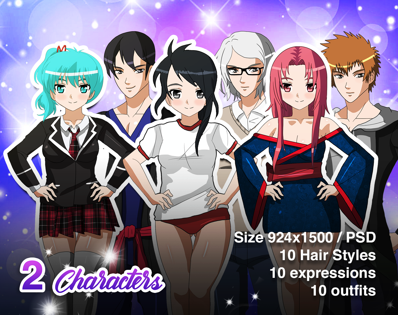 20 VN Characters Bundle