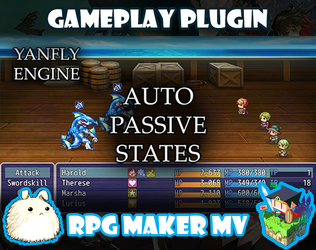 Auto Passive States plugin for RPG Maker MV by Yanfly Engine Plugins