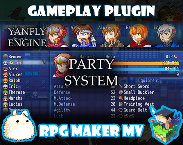 Party System plugin for RPG Maker MV by Yanfly Engine Plugins