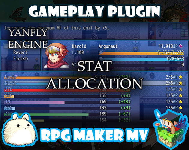 Stat Allocations plugin for RPG Maker MV by Yanfly Engine ...