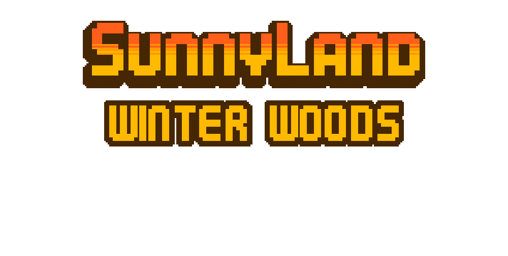SunnyLand Winter Forest