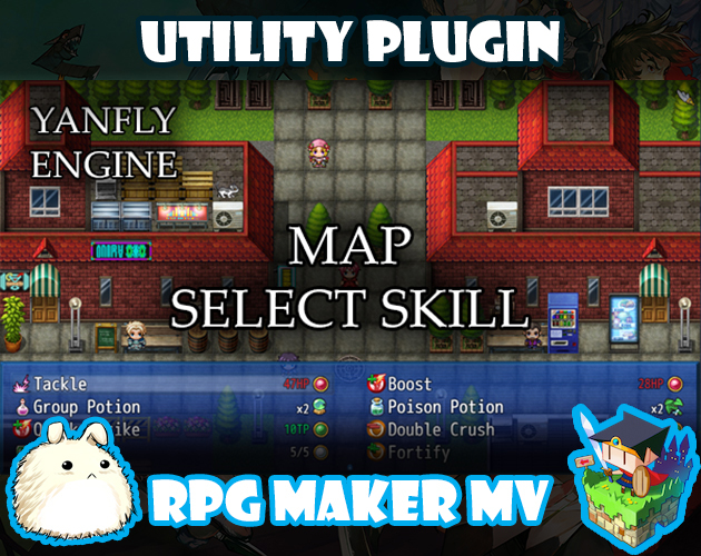 Map Select Skill plugin for RPG Maker MV by Yanfly Engine Plugins