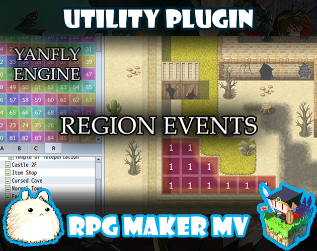 Region Events plugin for RPG Maker MV by Yanfly Engine Plugins
