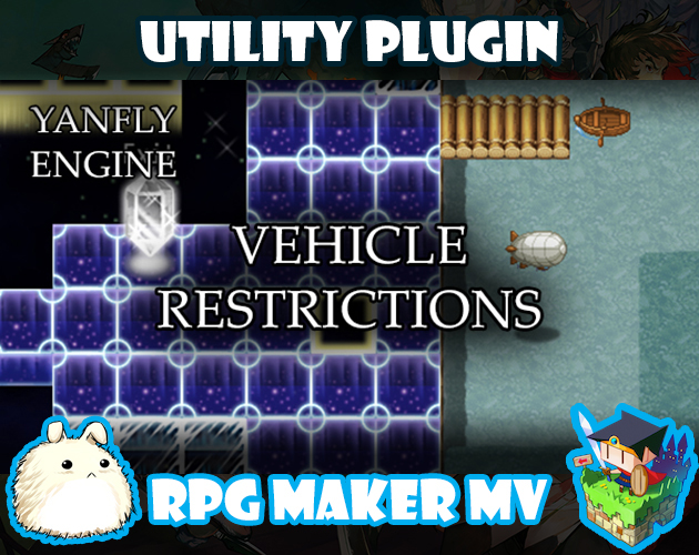 Vehicle Restrictions plugin for RPG Maker MV by Yanfly
