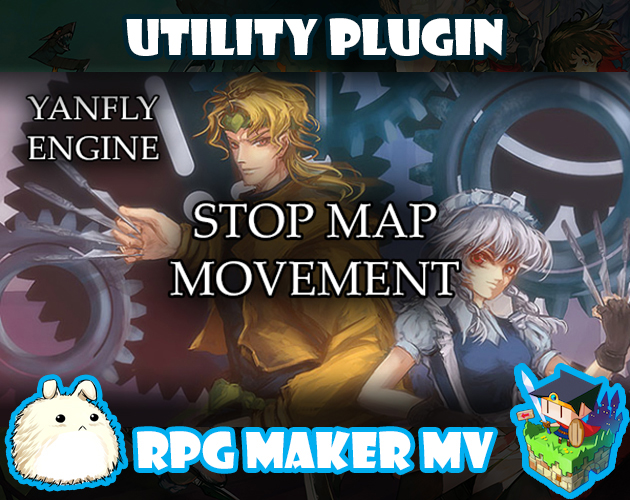 Stop Map Movement plugin for RPG Maker MV by Yanfly Engine Plugins