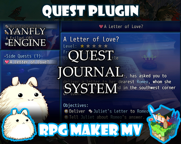 Quest Journal System plugin for RPG Maker MV by Yanfly