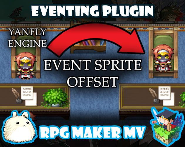 Event Sprite Offset plugin for RPG Maker MV by Yanfly Engine