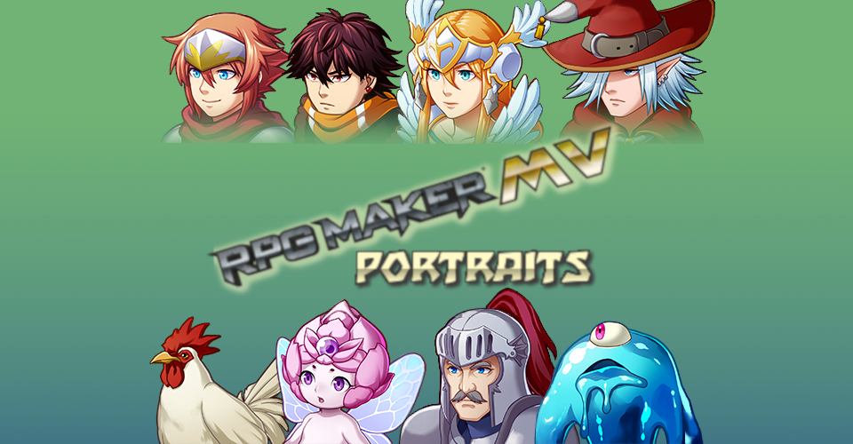 RPG Maker MV RTP Shoulder-Up Portraits