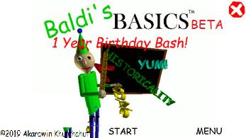 Baldi's Basics Beta 1 Year Birthday Bash (Baldi Basics Birthday Bash Mod)