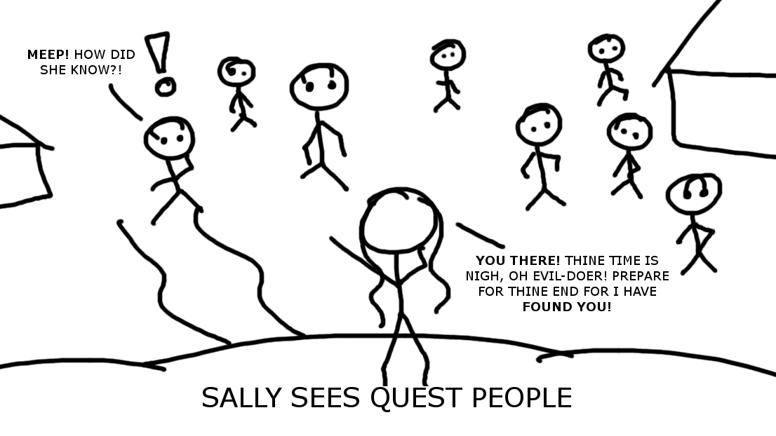 Sally Sees Quest People