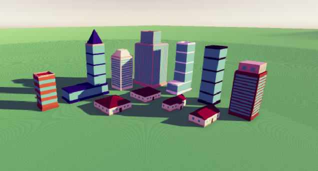 Free Low Poly City Buildings Pack by Jannie