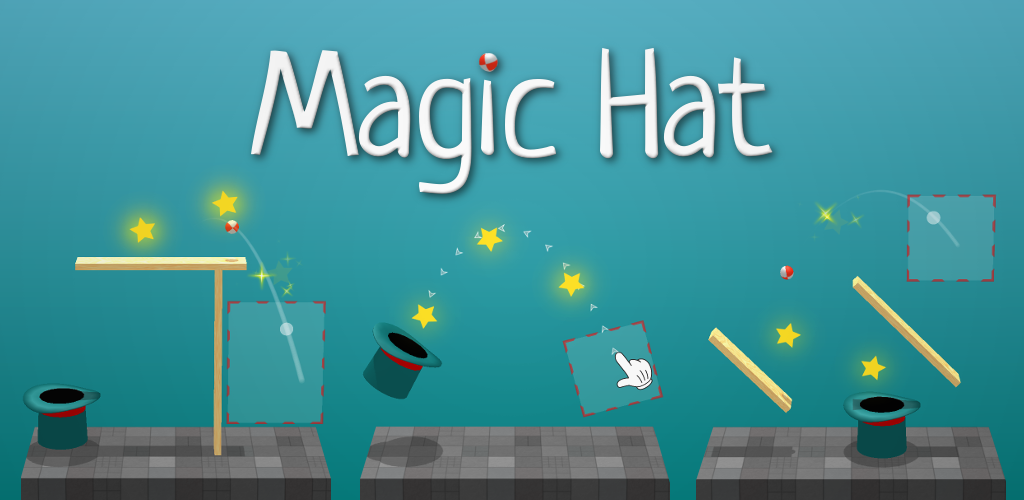 Magic Hat: physics-based arcade