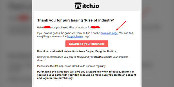 How to get a Steam key from your Itch io purchase - Rise of