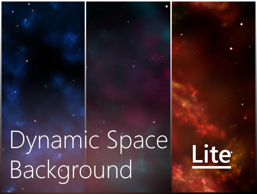 dynamic space background lite free by dinvstudio