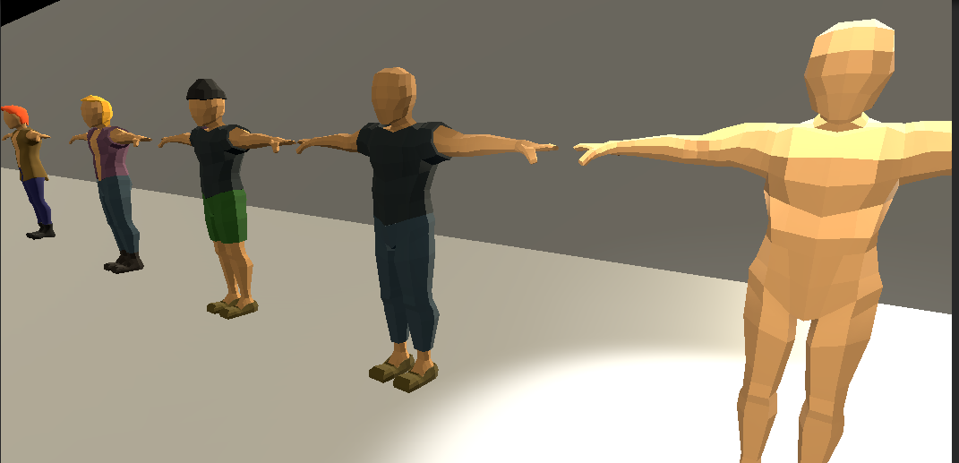Low Poly Character Rigged for Unity*UPDATED!*