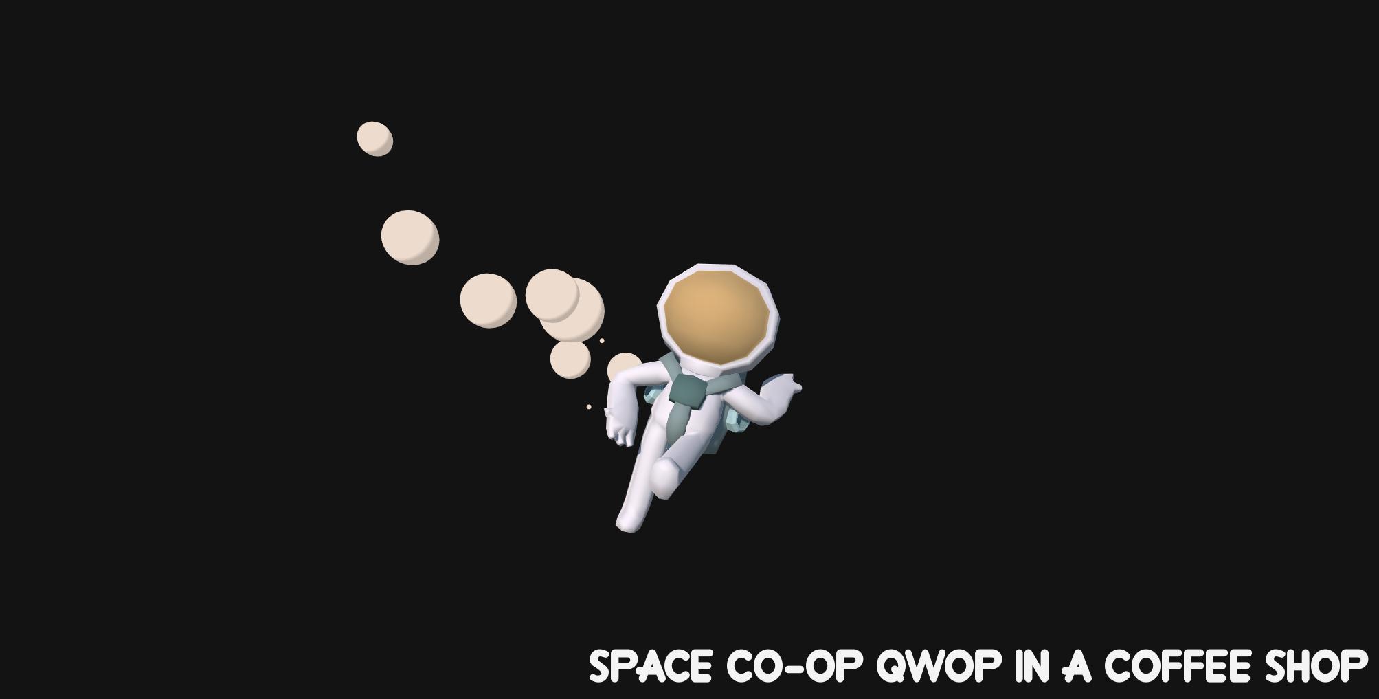 Space Co-op Qwop in a Coffee Shop