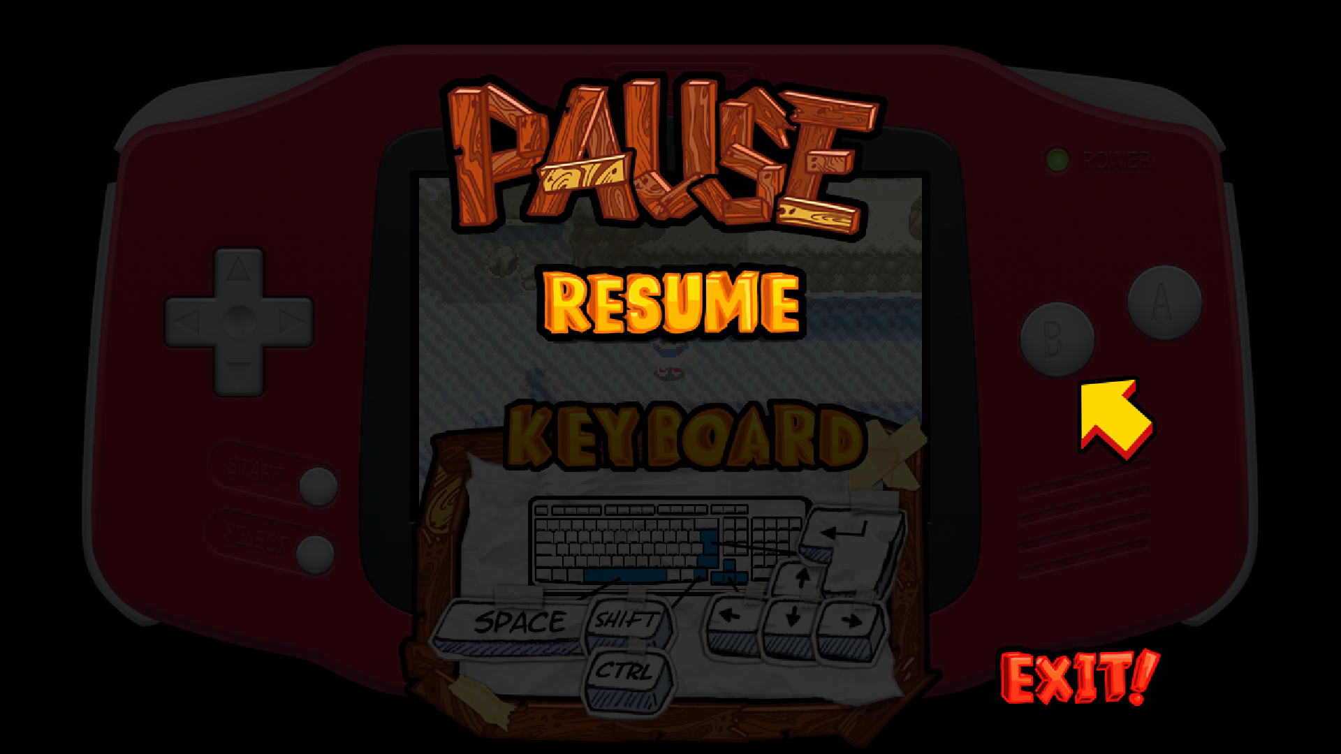 ErrorWare2 Screenshot- Pause Menu Controls
